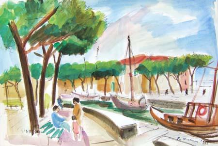 Quadro di Rodolfo Marma Viareggio - acquerello carta
